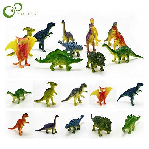 Panamat Action & Toy Figures - 12pcs/lot Dinosaurs Model Cute Animals Gifts Boys Toys Hobbies Kids Mini Small Plastic Dinosaurus Figures GYH 1 PCs from Panamat