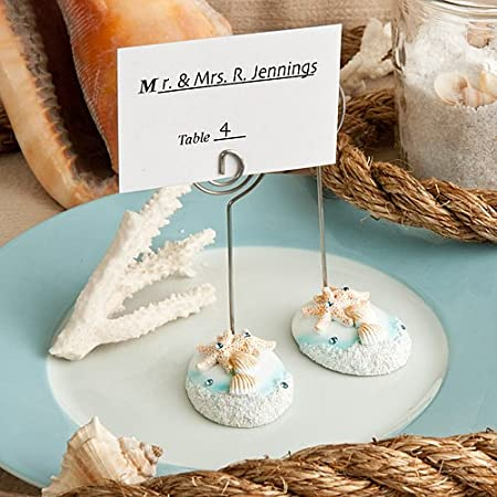 set of 6 beach theme place card or table number holders amazon co