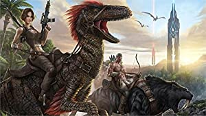 Amazon Com Makeuseof Ark Survival Evolved Game Wall Decor