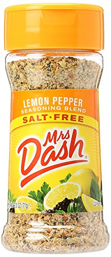 Mrs. Dash Salt-Free Seasoning Blend, Lemon Pepper, 2.5 oz