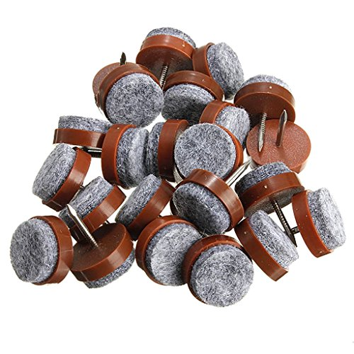 40pcs Round Heavy Duty Nail-on Anti-Sliding Felt Pad(Dia 1.1