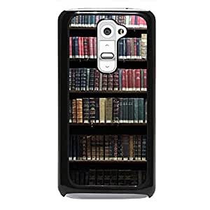 Popular Bookshelf Phone Case Cover for LG G2 Bookshelf Stylish