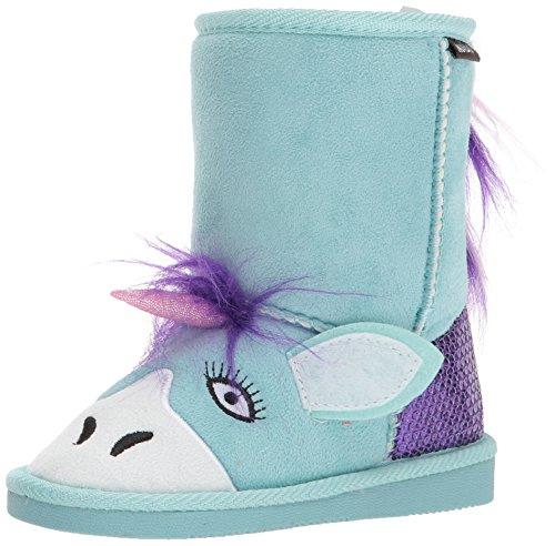 Price comparison product image Muk Luks Boys' Rainy Unicorn Fashion Boot,  Mint,  12 M US Little Kid