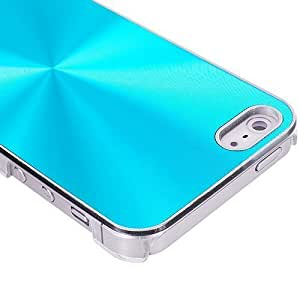 Accessory Planet(TM) Baby Blue Aluminum Circles Hard Rear Case Cover for Apple iPhone 5 / 5S