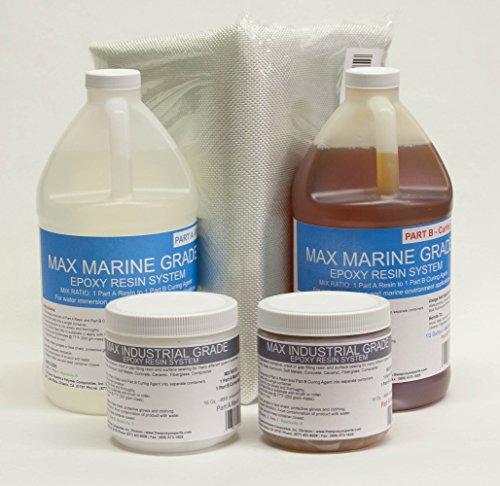 MAX MARINE EPOXY FIBER GLASS BOAT REPAIR / BOAT BUILDING KIT -