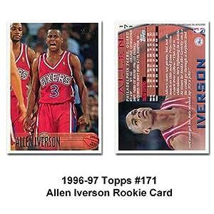 Amazon.com: Topps Philadelphia 76ers Allen Iverson 1996-97 ...