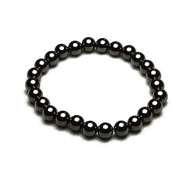 Accents Kingdom Magnetic Hematite Round Bead Bracelet BmGpcDf