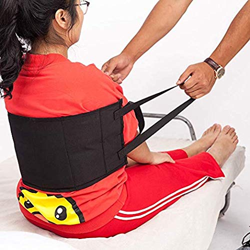 Fushida Non-Slip Lifting Assist Pad, Durable PVC Transfer Belt with Handles, Transfer Sling Provide Safety Transfers from Cars, Bed, Wheelchairs(Black, FYH251)