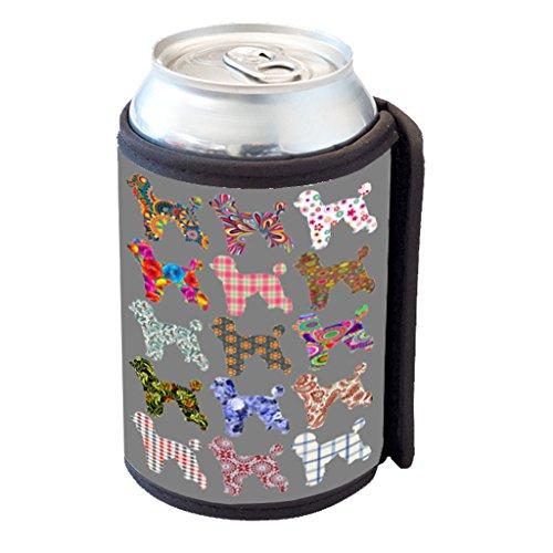 [Poodle Dog Pattern - Can Cooler Bottle Hugger] (Poodle Cooler)