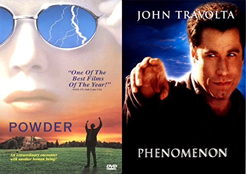 Extraordinary Human Phenomenon John Travolta & Powder Double Feature Movie Bundle (Patch Adams What Dreams May Come)