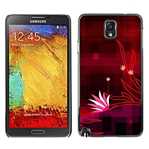 Stuss Case / Funda Carcasa protectora - Original Checkered Red Stripes - Samsung Note 3 N9000