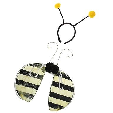 Segolike Yellow Bumble Bee Wings Antennas Headband Set Fancy Dress Costume for boys girls  sc 1 st  Amazon.in & Segolike Yellow Bumble Bee Wings Antennas Headband Set Fancy Dress ...