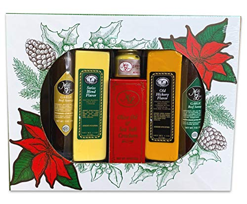 Gourmet Cheese and Meat Christmas Gift Basket Box