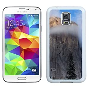 NEW Unique Custom Designed Samsung Galaxy S5 I9600 G900a G900v G900p G900t G900w Phone Case With Mac OSX Yosemite Cliff_White Phone Case