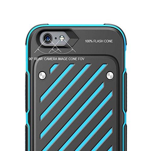 IPhone 6Plus / 6S Plus (5,5 pulgadas) Funda, sobre [serie Espada] 2 en 1 caso de la cubierta color de la colisión de choque de doble capa de protección completa de colores Teléfono (iphone 6Plus/6s Pl Red