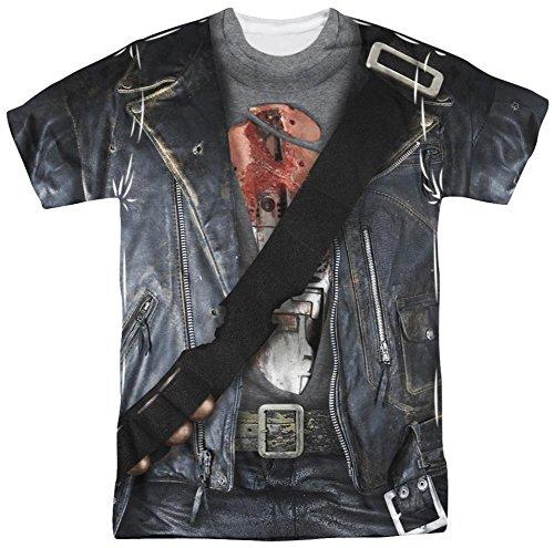 [Terminator 2 - T800 Costume T-Shirt Size M] (Cameron Terminator Costume)