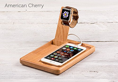 simple and cute single wooden apple device stand