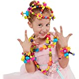 WITKA Pop Beads Set Animal Shaped DIY Jewelry Kit for Headwear, Necklace, Earrings, Bracelets and Anklets for Kids Girls Gift Toys (85 Pieces)