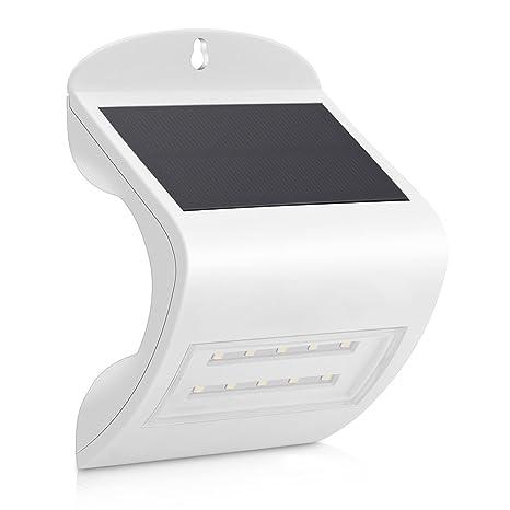 Wonderlamp Aplique Solar con Sensor De Movimiento Integrado, 2 W, Blanco, 10 x