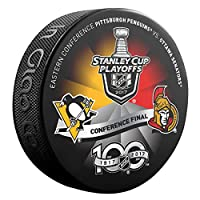 2017 NHL Eastern Conference Finals Pittsburgh Penguins vs Ottawa Senators Stanley Cup Playoffs Souvenir Hockey Puck