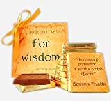 DA CHOCOLATE Cute Candy FOR WISDOM ♛ Dark Chocolate Gift Set ♛ 9 pieces of chocolate 5x5in 1 box (Prime)