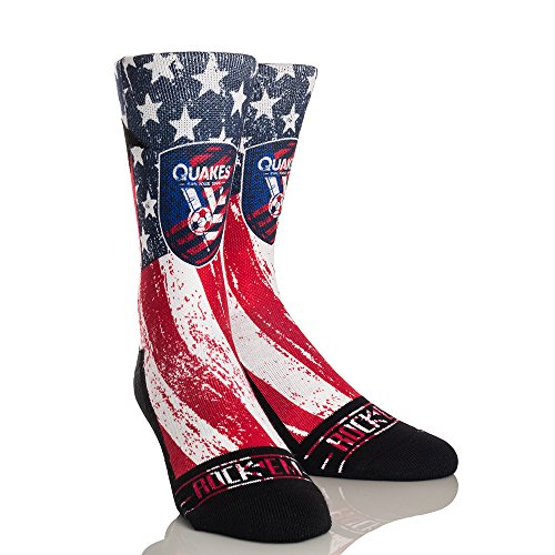 - MLS San Jose Earthquakes Club/Country Custom Athletic Crew Socks, Small/Medium, Blue