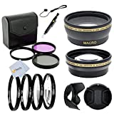 52mm Starter Accessory Kit for NIKON DSLR (D3000 D3100 D3200 D3300 D5000 D5100 D5200 D5300 D5500 D7000 D7100 D7200, D600, D610, D800, D800E, D90 D80, D4, D4S)). Includes: High Definition 0.43X Wide Angle & 2.2X Telephoto Lenses - International Version (No
