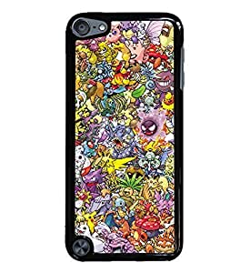 Pokemon Collage Black Hardshell Case for iPod Touch 5G iTouch 5th Generation