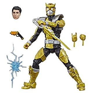 """Hasbro Power Rangers Lightning Collection 6"""" Beast Morphers Gold Ranger Collectible Action Figure Toy with Accessories"""
