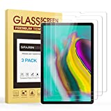 Galaxy Tab S5e Screen Protector, [3-Pack] SPARIN 9H Hardness Galaxy Tab S5e Tempered Glass Screen Protector, Bubble Free/High Response/Scratch Resistant for Samsung Galaxy Tab S5e,10.5 inch