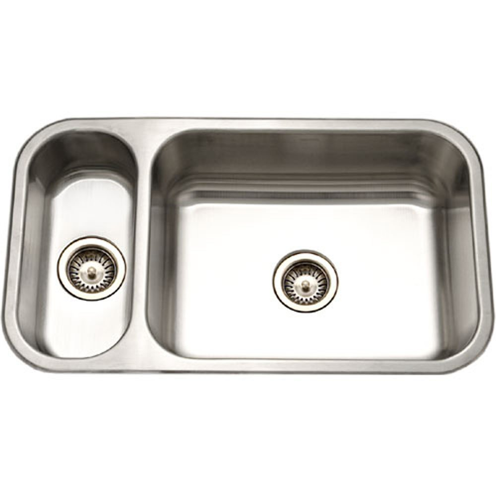 Houzer EHD-3118-1 Elite Series Undermount Stainless Steel 70 30 Double Bowl Kitchen Sink
