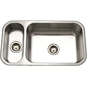 Houzer EHD-3118-1 Elite Series Undermount Stainless Steel 70/30 Double Bowl Kitchen Sink