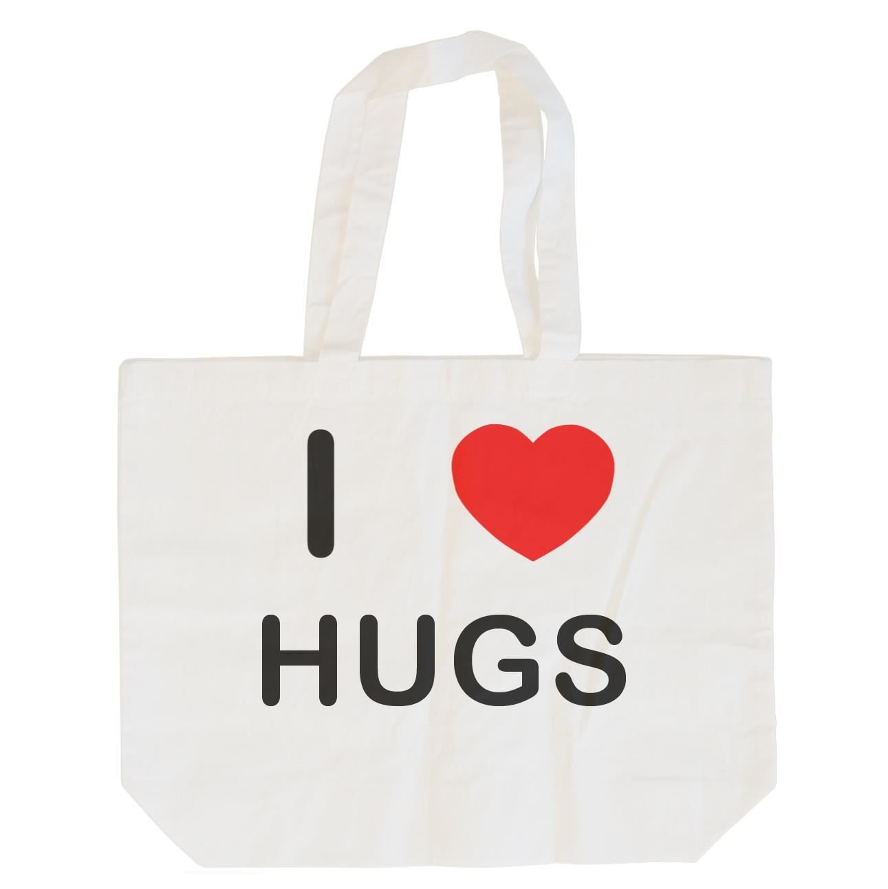 I Love Hugs Cotton Maxi Shopping Bag