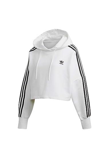 adidas Damen Crop Hoodie Sweatshirt: : Bekleidung