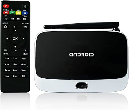YUNTAB Mini Smart box tv Full HD1080P Google Android 4.4 Quad core RK3188 5449: Amazon.es: Electrónica