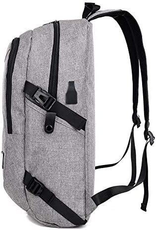 QUJHF Backpack USB Rechargeable Outdoor Canvas Backpack Fashion Canvas Big Travel Bag Unisex