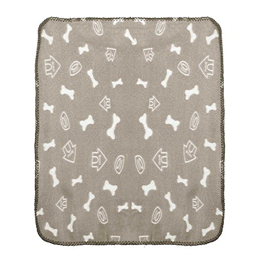 Wouke Pet Mat for Puppy Cat Bone House Print Blanket Warm Sleep Cushion Pad - Outside Weatherproof Print