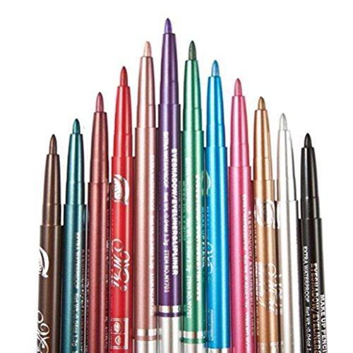 CINEEN 12PCS/Set Eyeliner Pens in Assorted Colors for Women