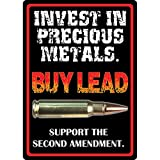 Rivers Edge Products Precious Metals Tin Sign, 16-Inch