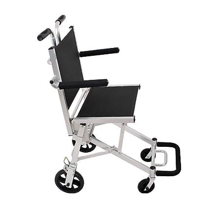 Sillas de ruedas Silla de Viaje Old Man Trolley Hogar Plegable Ligero para discapacitados Salida Aluminio