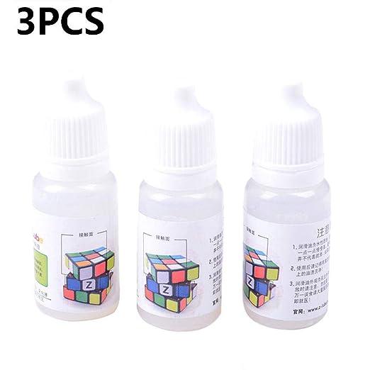 Kapokilly Lubricante para Cubos De 10 Ml, Aceite De Silicona Lubricante Liso con Cubos Mágicos