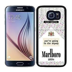 Funda carcasa TPU (Gel) para Samsung Galaxy S6 paquete de tabaco estampado flores borde negro