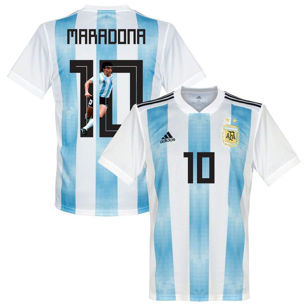 Argentinien Home Trikot 2018 2019 + Maradona 10 (Gallery Style)