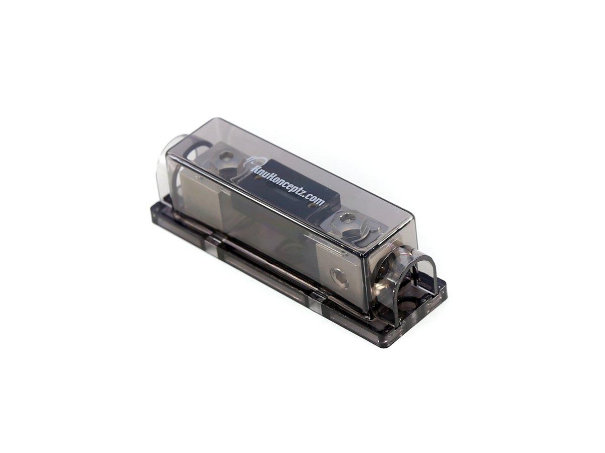 KnuKonceptz Bassik 0 Gauge In Line ANL Fuse Holder - 250 Amp ANL Fuse
