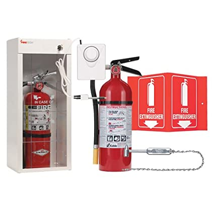 kidde fire extinguisher with cabinet glass striker extinguisher rh amazon com  kidde semi-recessed fire extinguisher cabinets