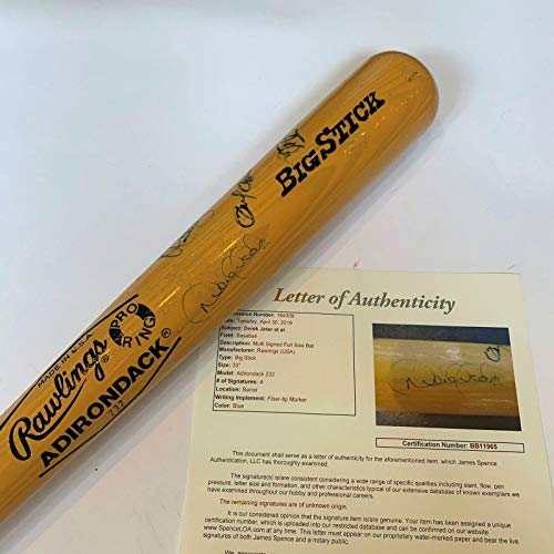 Derek Jeter Signed Bat - 1993 Greensboro Hornets Pre Rookie COA - JSA Certified - Autographed MLB Bats