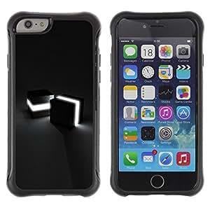 Fuerte Suave TPU GEL Caso Carcasa de Protección Funda para Apple Iphone 6 / Business Style Light Cubes