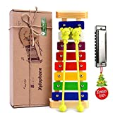 Xylophone for Kids: Best Holiday/Birthday Present Idea for your Mini Musicians, Musical Toy with Child Safe Mallets, Perfectly Tuned Instrument for Toddlers, Musical Cards and Harmonica Included