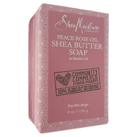 Bar Soap Rose (Shea Moisture Peace Rose Oil Bar Soap, 8 Ounce)