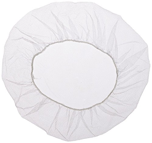 Shield Safety - Nylon Hairnet - Disposable - Latex Free - White - 24'' - Bag of 100 Pieces by PackagingSuppliesByMail